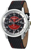 Ferrari Men's FE-11-ACC-CP-FC Black Leather Swiss Chronograph Watch with Dial