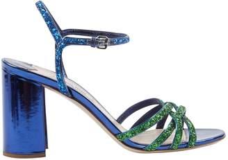 Miu Miu Blue Glitter Heels