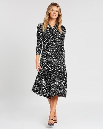 Dorothy Perkins Spot 3/4 Sleeve Shirt Dress
