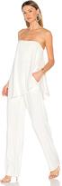 Halston Asymmetrical Overlay Jumpsuit