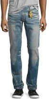 Robin's Jeans Five-Pocket Denim Jeans with Stamped-Detail, Light Blue