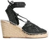 Paloma Barceló Cordela sandals - women - Leather/Straw - 36