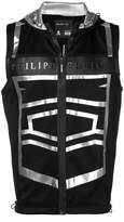 Philipp Plein metallic logo gillet jacket