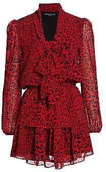 Generation Love Women's Solange Leopard-Print Ruffle Dress