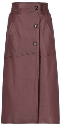 Momoni Rame Skirt In Leather