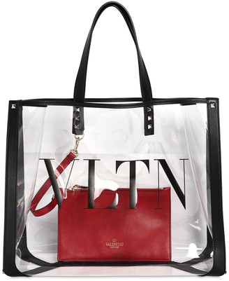 Valentino Garavani Logo Tote Bag W/ Leather Details