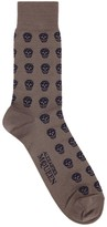 Alexander Mcqueen Taupe Skull Socks