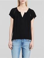 Calvin Klein Boho V-Neck Flutter Sleeve T-Shirt