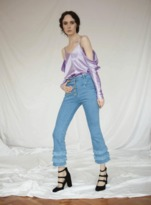 FLOW The Label Ruffled Jeans