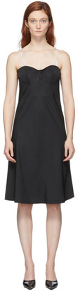 Coperni Black Contrast Connection Slip Dress