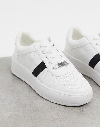 Steve Madden braden side stripe trainers in white