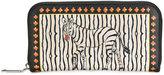 Etro zebra print continental wallet