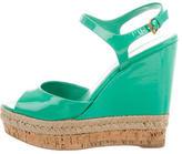 Gucci Espadrille Wedge Sandals