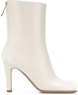 Bottega Veneta Bloc 90mm leather ankle boots