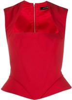 Thierry Mugler peplum corset top