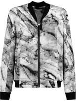 Helmut Lang Printed Silk-Crepe Bomber Jacket