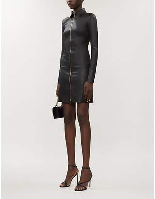 Jitrois Agatha zip-front leather dress