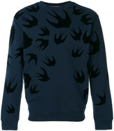 McQ by Alexander McQueen crew neck swallow jumper - men - Cotton/Polyester/Spandex/Elastane - S