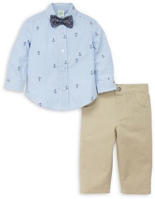 Little Me Little Boy's 3-Piece Nautical Shirt, Tie & Pant Set