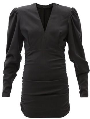 Isabel Marant Stella Ruched Poplin Mini Dress - Black
