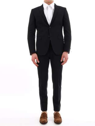 Tonello Blue Suit In Stretch Wool