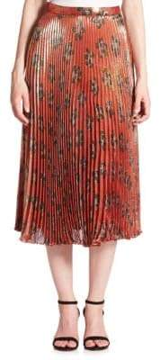 Suno Pleated Midi Skirt