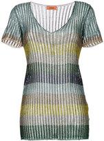 Missoni metallic striped blouse - women - Polyester/Cupro/Viscose - 40