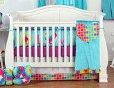 One Grace Place Terrific Tie Dye Infant Crib Bedding Set, Aqua Blue/Royal Blue/Purple, 4 Piece by