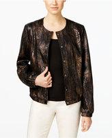 INC International Concepts Metallic Snake-Print Bomber Jacket, Only at Macy's