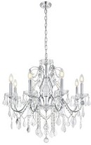 Thao 8 - Light Candle Style Classic / Traditional Chandelier with Crystal Accents Rosdorf Park Finish: Chrome, Crystal: Royal Cut