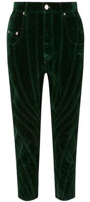 Thierry Mugler Paneled Cotton-blend Velvet Tapered Pants