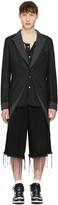 Comme des Garcons Black Asymmetric Coat