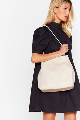 Nasty Gal Womens WANT A Woven Success Clutch and Tote Bag - Beige - One Size