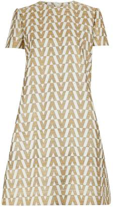 Valentino V print short dress