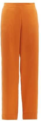 Asceno - Sandwashed-silk Pyjama Trousers - Womens - Orange