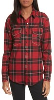 The Kooples Women's Studded Plaid Shirt