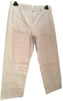 Alberto Biani Grey Wool Trousers for Women