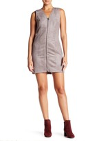 Olive + Oak Olive & Oak Faux Suede Zip Dress