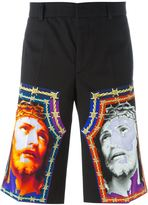 Givenchy Christ print shorts - men - Cotton - 46