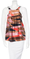 M Missoni Sleeveless Silk Top