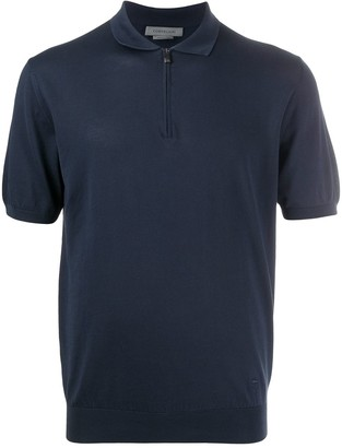 Corneliani Zip-Up Polo Shirt