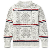 Thom Browne - Fair Isle Wool And Mohair-blend Sweater