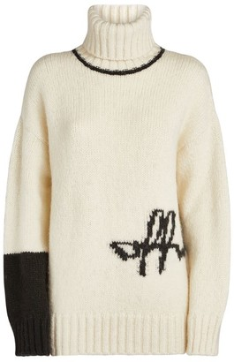 Off-White Knitted Logo Rollneck Sweater