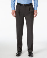 Louis Raphael Men's Straight-Fit Double-Pleated Dress Pants
