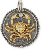 Konstantino Cancer Carved Zodiac Pendant with Diamond