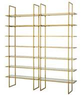 Eichholtz Stainless Steel Etagere Bookcase Color: Silver