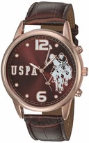 U.S. Polo Assn. Women's Quartz Watch with Patent Leather Strap