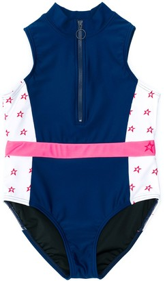 Perfect Moment Kids Star Print Swimsuit