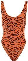 Reina Olga Funky tiger-print one-piece swimsuit