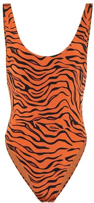 Reina Olga Funky tiger-print one-piece swimsuit